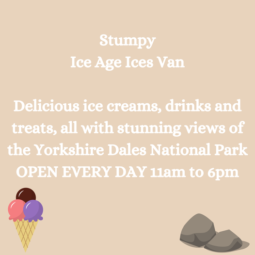Come and grab an ice cream from the Stumpy Ice