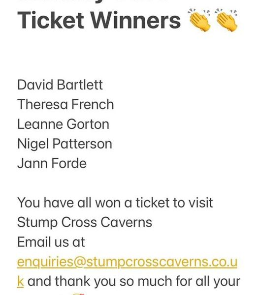Congratulations to our fabulous winners you have won a tick