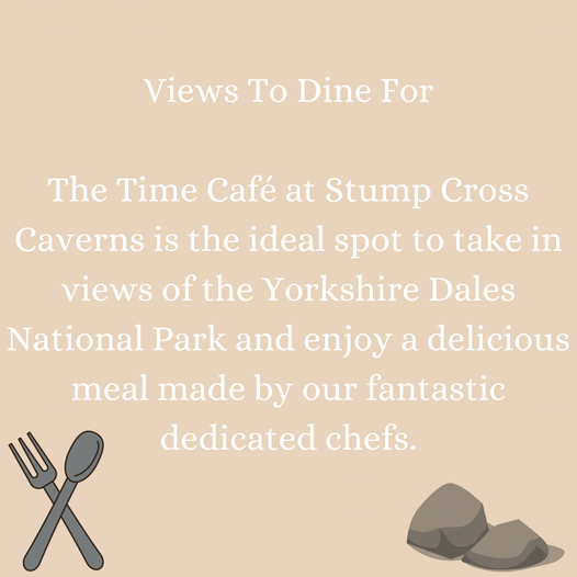 Enjoy a delicious meal at our Time Cafe with views