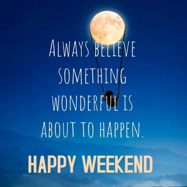 Happy Weekend Everyone!! Wonderful things are certainly hap
