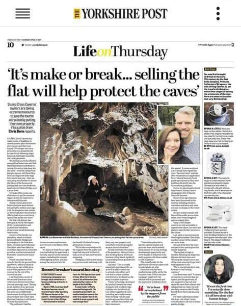 Morning!!! Did you spot us in the Yorkshire Post yesterday?