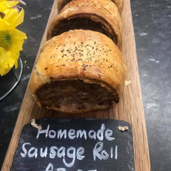 Nom Nom... Homemade Sausage Rolls served with homemade tomat