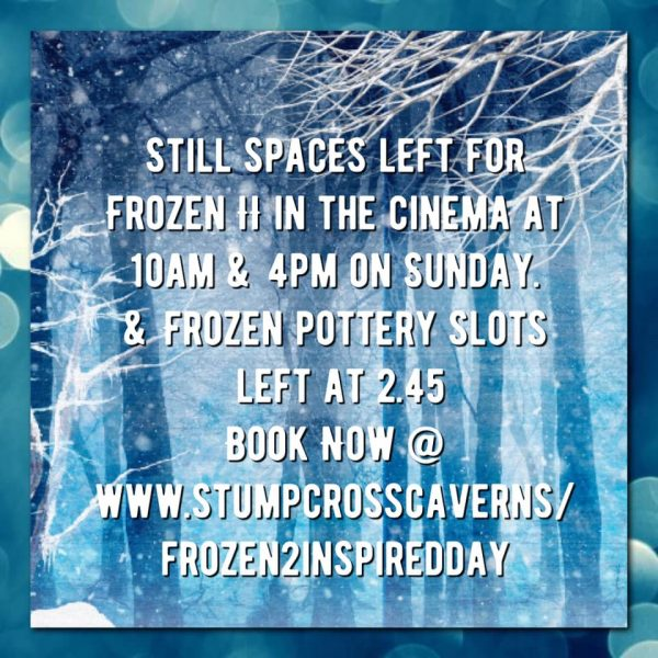 Not too late to book your Cinema and/or Pottery slots