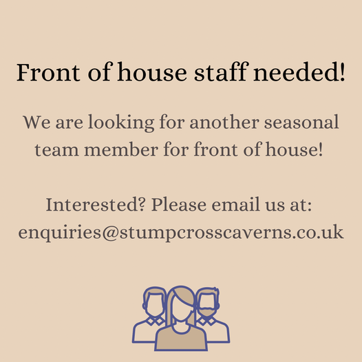 We are still looking for front of house staff! Can
