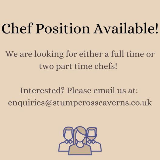 We have a chef position available! Do you know anyone