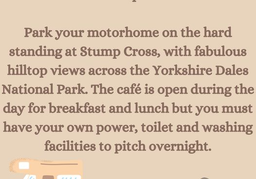 Did you know that you can park your motorhome here