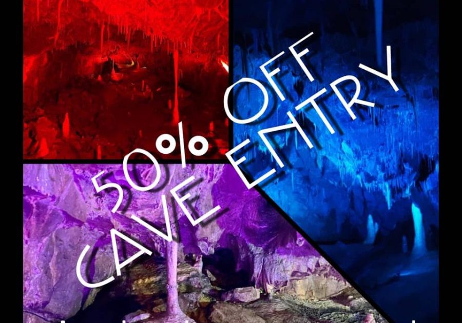 Don't miss out on HALF PRICE CAVE ENTRY this half
