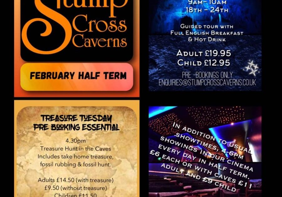 NOW TAKING BOOKINGS FOR FEBRUARY HALF TERM TO BOOK 017567