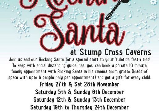 Santa's coming to Stump Cross! Book now!