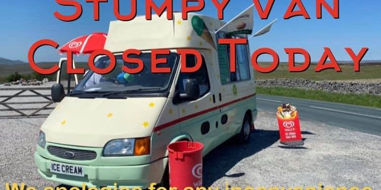 Stumpy Van is CLOSED today due to poor weather conditions