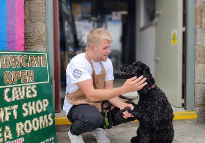 Team Stumpy's Luke looking after Luna - one of our