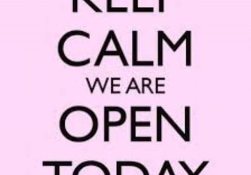 We are open today as normal folks