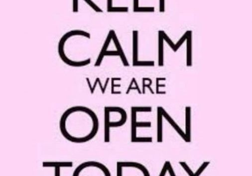 We are open today from 9am until 6pm It's a